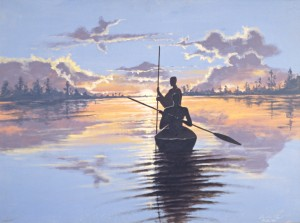 Men In Canoe