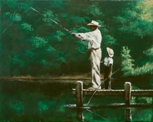 Grandpa's Fishing Lesson