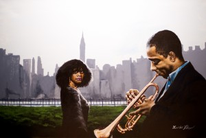 Trumpet Player and Girl