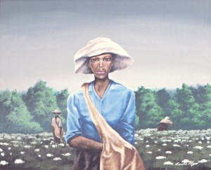 Woman In The Cotton Field